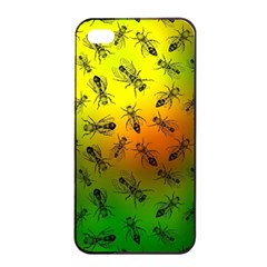 Insect Pattern Apple Iphone 4/4s Seamless Case (black) by Simbadda