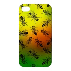 Insect Pattern Apple Iphone 4/4s Premium Hardshell Case by Simbadda