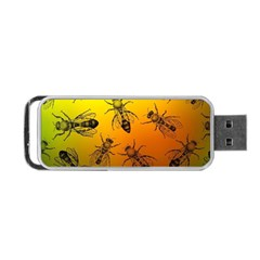 Insect Pattern Portable Usb Flash (two Sides) by Simbadda