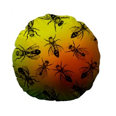 Insect Pattern Standard 15  Premium Round Cushions