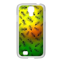 Insect Pattern Samsung Galaxy S4 I9500/ I9505 Case (white) by Simbadda