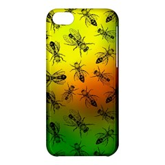 Insect Pattern Apple Iphone 5c Hardshell Case by Simbadda