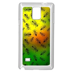 Insect Pattern Samsung Galaxy Note 4 Case (white)