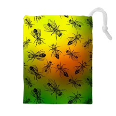 Insect Pattern Drawstring Pouches (extra Large) by Simbadda