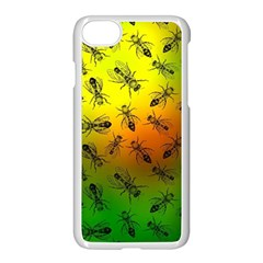 Insect Pattern Apple Iphone 7 Seamless Case (white) by Simbadda