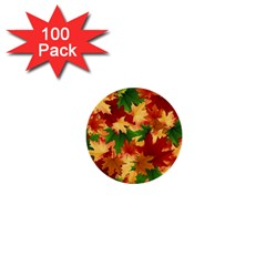 Autumn Leaves 1  Mini Buttons (100 Pack)  by Simbadda
