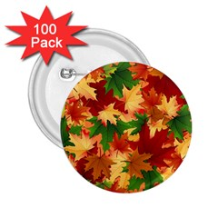 Autumn Leaves 2 25  Buttons (100 Pack)  by Simbadda
