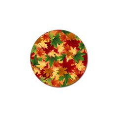 Autumn Leaves Golf Ball Marker (4 Pack) by Simbadda