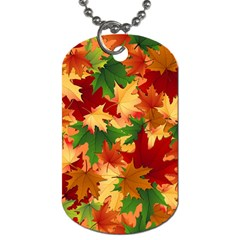 Autumn Leaves Dog Tag (two Sides) by Simbadda