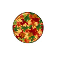 Autumn Leaves Hat Clip Ball Marker (4 Pack) by Simbadda