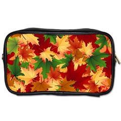 Autumn Leaves Toiletries Bags 2 Side by Simbadda
