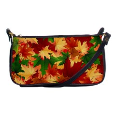 Autumn Leaves Shoulder Clutch Bags by Simbadda
