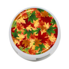 Autumn Leaves 4 Port Usb Hub (two Sides)