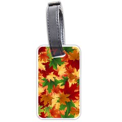 Autumn Leaves Luggage Tags (one Side)  by Simbadda