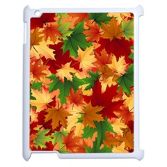 Autumn Leaves Apple Ipad 2 Case (white) by Simbadda