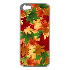 Autumn Leaves Apple Iphone 5 Case (silver) by Simbadda