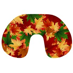 Autumn Leaves Travel Neck Pillows by Simbadda