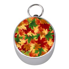 Autumn Leaves Mini Silver Compasses by Simbadda