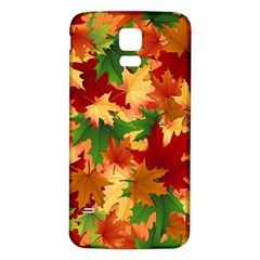 Autumn Leaves Samsung Galaxy S5 Back Case (white) by Simbadda
