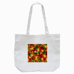 Autumn Leaves Tote Bag (white) by Simbadda