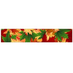 Autumn Leaves Flano Scarf (large) by Simbadda