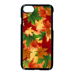 Autumn Leaves Apple Iphone 7 Seamless Case (black) by Simbadda