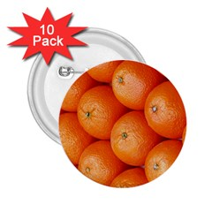 Orange Fruit 2 25  Buttons (10 Pack)  by Simbadda