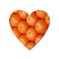 Orange Fruit Heart Magnet by Simbadda