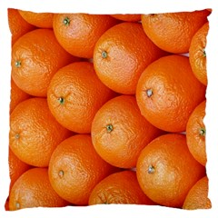 Orange Fruit Large Flano Cushion Case (two Sides) by Simbadda