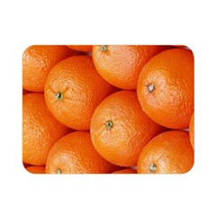 Orange Fruit Double Sided Flano Blanket (mini)  by Simbadda