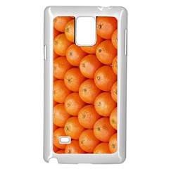 Orange Fruit Samsung Galaxy Note 4 Case (white) by Simbadda