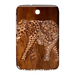 Elephant Aztec Wood Tekture Samsung Galaxy Note 8 0 N5100 Hardshell Case  by Simbadda