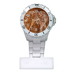 Elephant Aztec Wood Tekture Plastic Nurses Watch by Simbadda