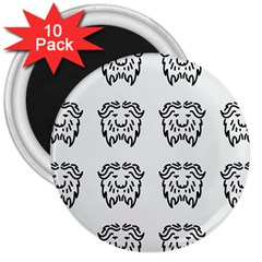Animal Bison Grey Wild 3  Magnets (10 Pack)  by Alisyart