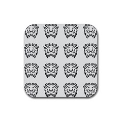 Animal Bison Grey Wild Rubber Coaster (square)  by Alisyart