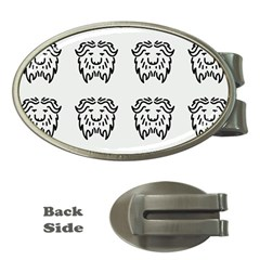 Animal Bison Grey Wild Money Clips (oval)