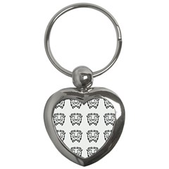 Animal Bison Grey Wild Key Chains (heart)  by Alisyart