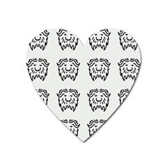 Animal Bison Grey Wild Heart Magnet by Alisyart