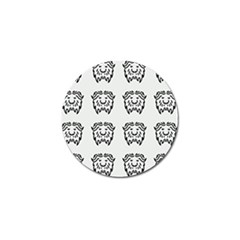 Animal Bison Grey Wild Golf Ball Marker (4 Pack) by Alisyart