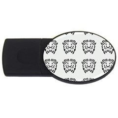 Animal Bison Grey Wild Usb Flash Drive Oval (4 Gb) by Alisyart