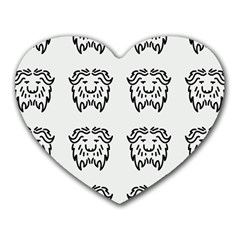 Animal Bison Grey Wild Heart Mousepads