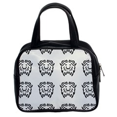 Animal Bison Grey Wild Classic Handbags (2 Sides) by Alisyart