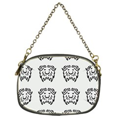 Animal Bison Grey Wild Chain Purses (two Sides)  by Alisyart