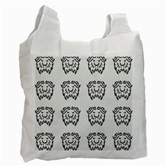 Animal Bison Grey Wild Recycle Bag (one Side)