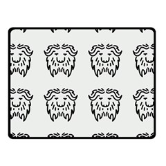 Animal Bison Grey Wild Fleece Blanket (small) by Alisyart