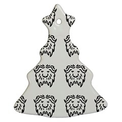 Animal Bison Grey Wild Christmas Tree Ornament (two Sides) by Alisyart