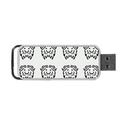 Animal Bison Grey Wild Portable Usb Flash (two Sides) by Alisyart