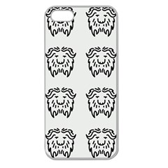 Animal Bison Grey Wild Apple Seamless Iphone 5 Case (clear) by Alisyart