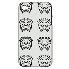 Animal Bison Grey Wild Apple Iphone 4/4s Hardshell Case (pc+silicone) by Alisyart