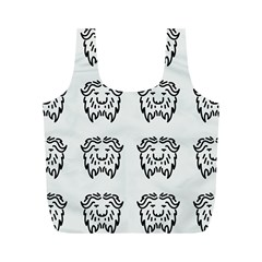 Animal Bison Grey Wild Full Print Recycle Bags (m)